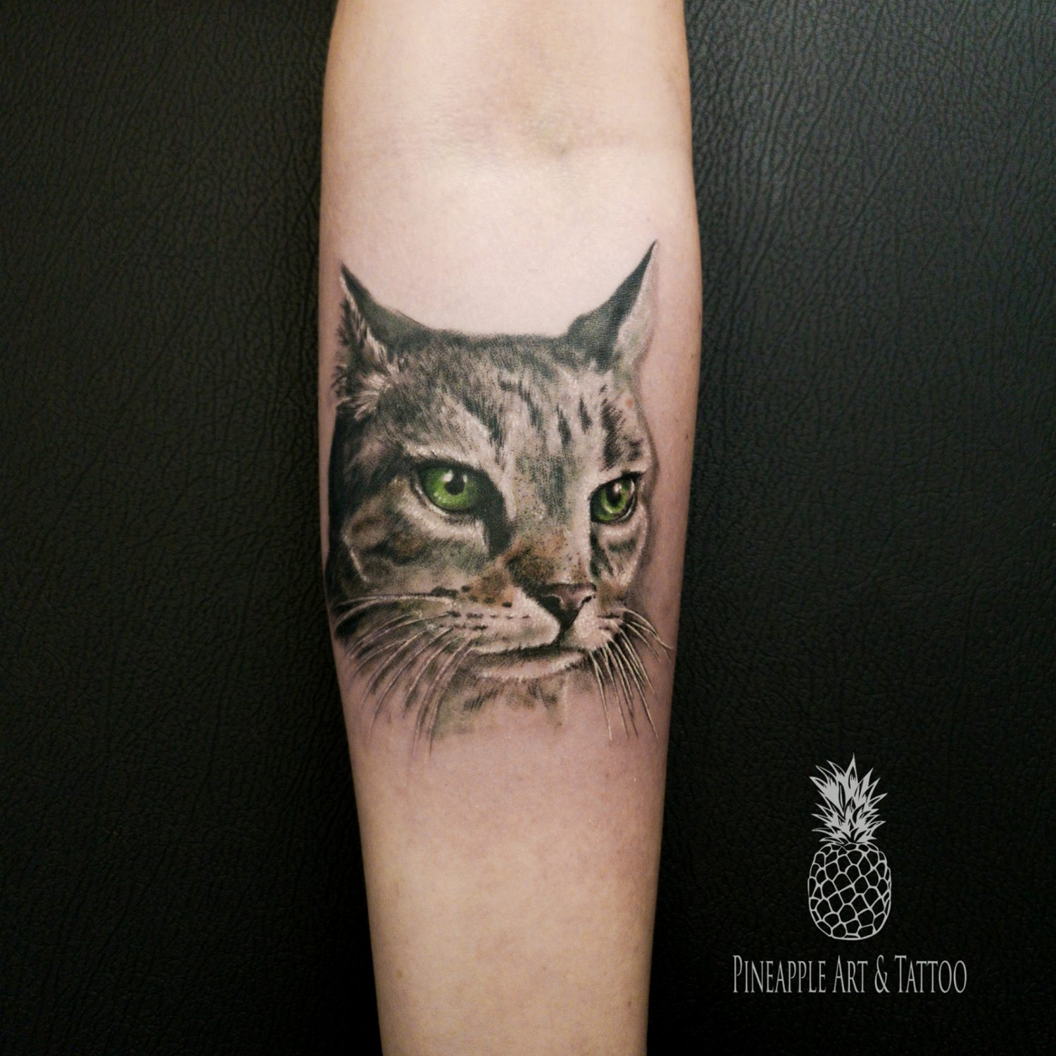 Pika the cat tattoo by Pineapple tattoo Maribor