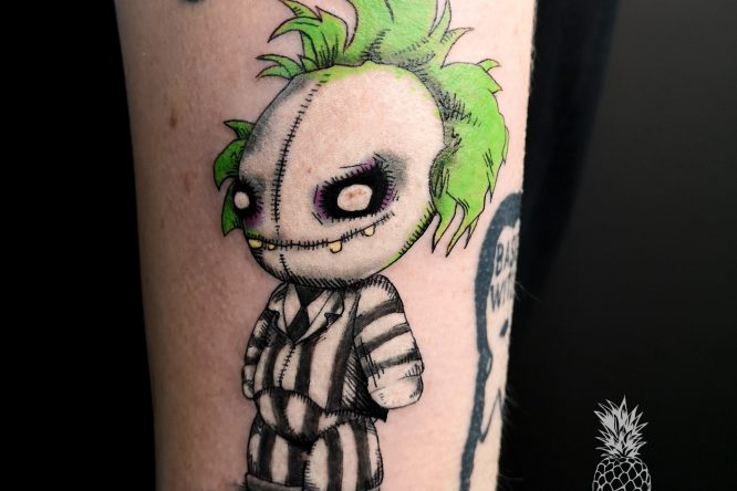 it's showtime! beetlejuice tattoo