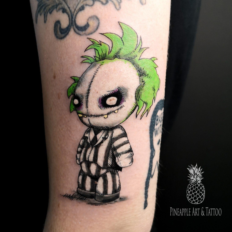 it's showtime! beetlejuice tattoo