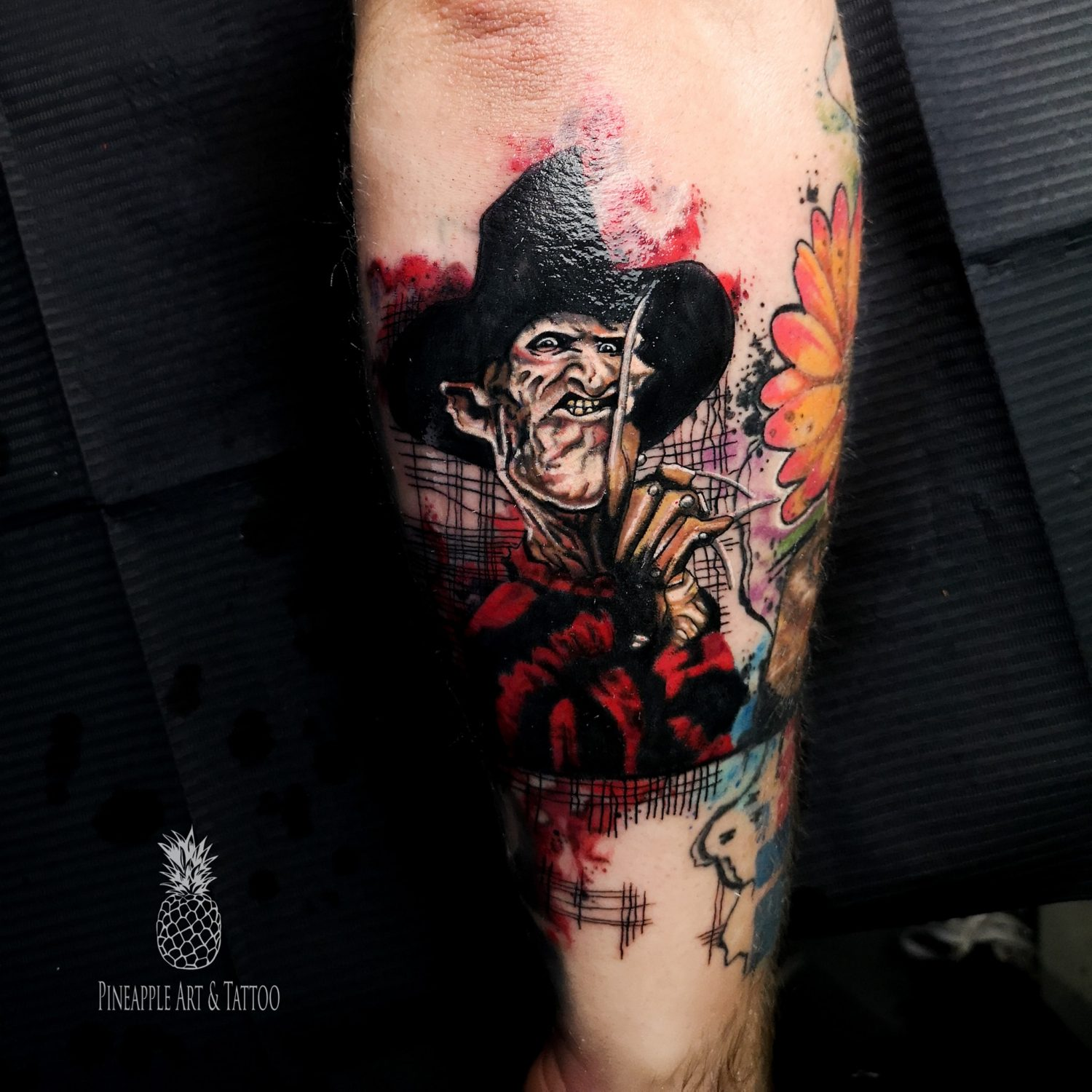 One, two, Freddy's coming for you, Freddy Krueger tattoo