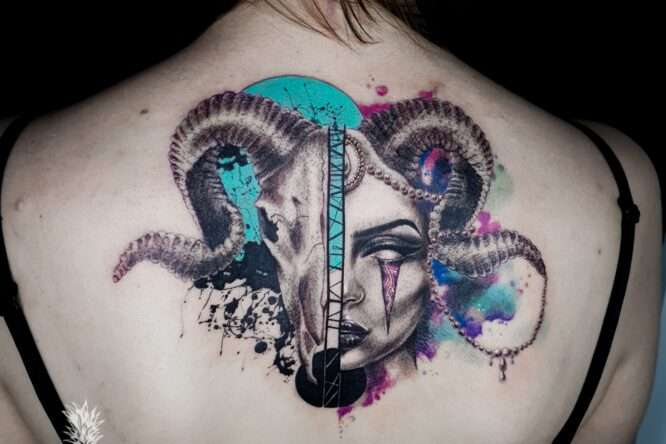 Alt Queen tattoo by Pineapple tattoo Maribor