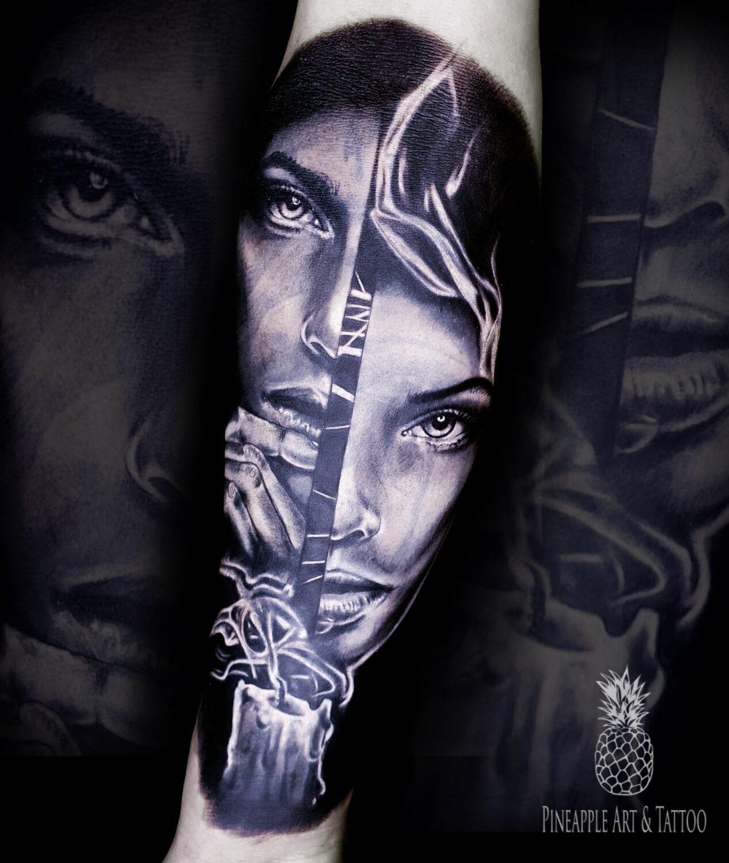 Warrior monk woman tattoo
