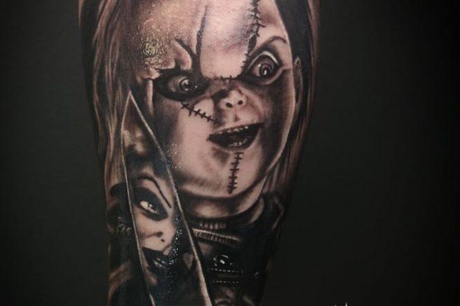 Chucky tattoo by Pineapple tattoo Maribor Slovenia