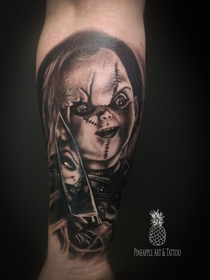 Chucky tattoo by Pineapple tattoo Maribor Slovenia
