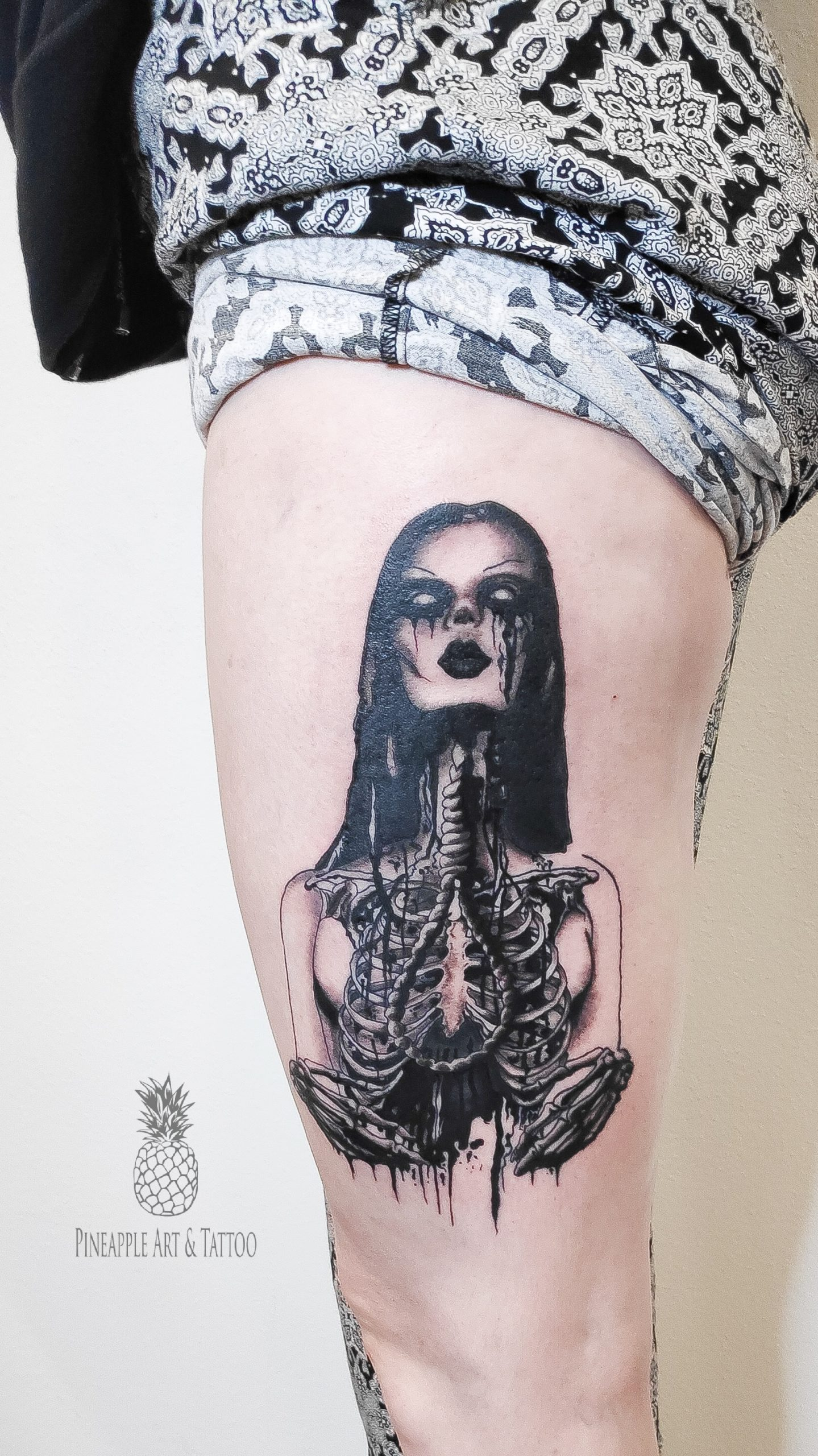 Horror girl tattoo