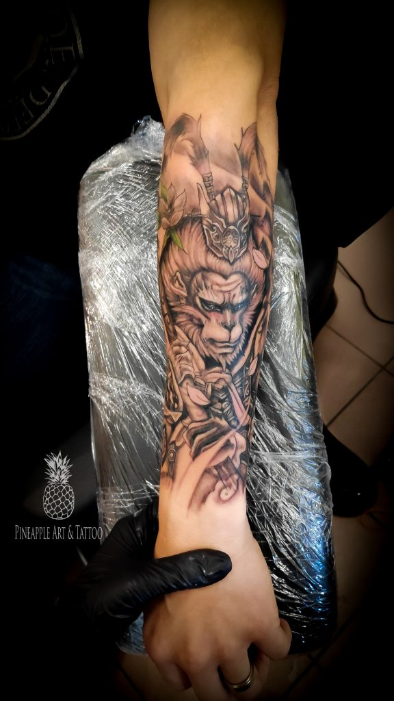Monkey KING tattoo 1