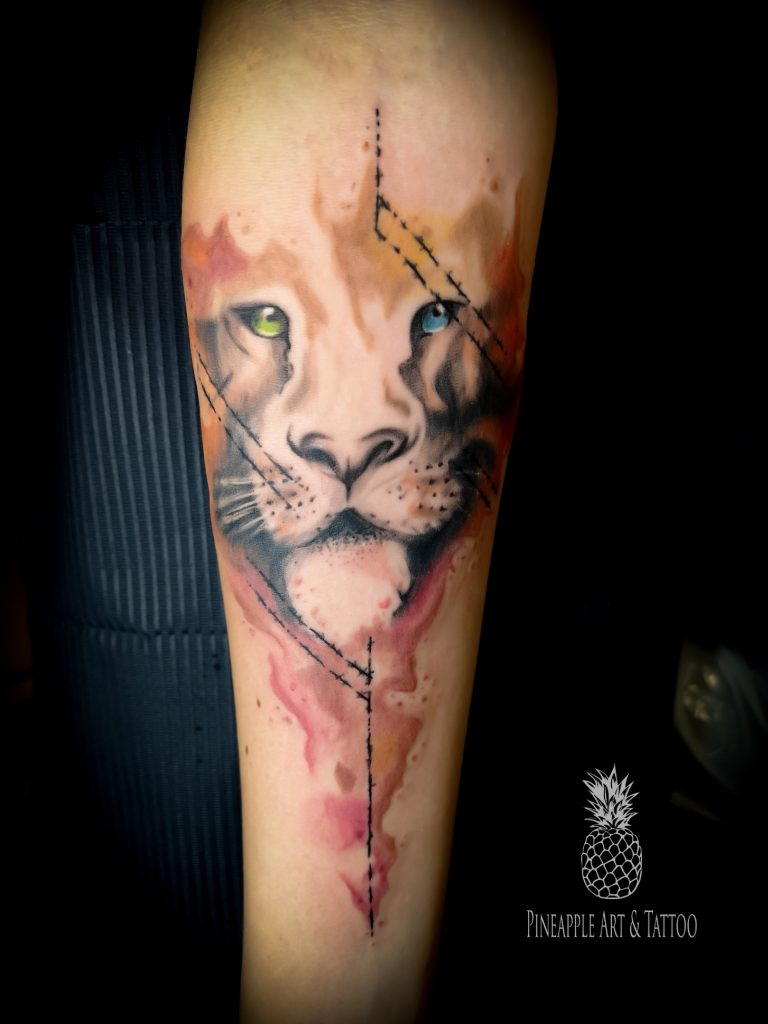Abstract TIGER tattoo 1