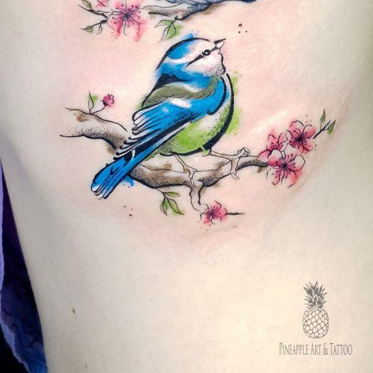 birdie color tattoo