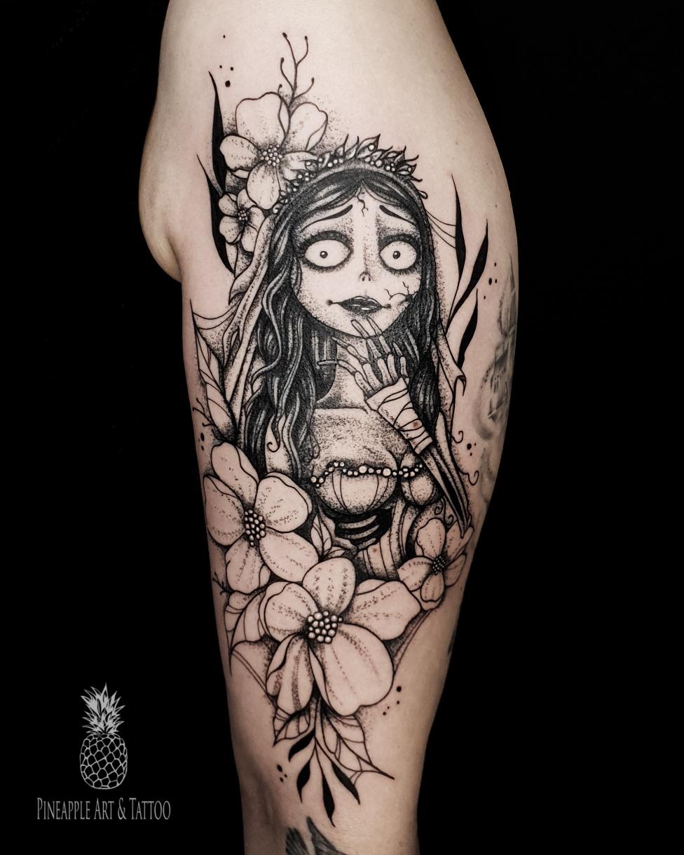 Corpse bride tattoo by Pineapple Art & Tattoo Maribor